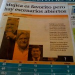 Valgprognose på forsiden af El Observador.